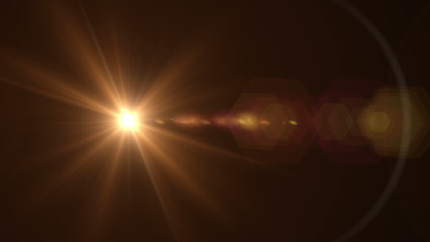 Lens Flare Effect On Black Stock Footage Video (100