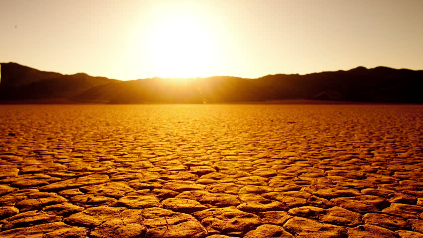 Blazing Dry Hot Desert Sun Time Lapse Stock Footage Video