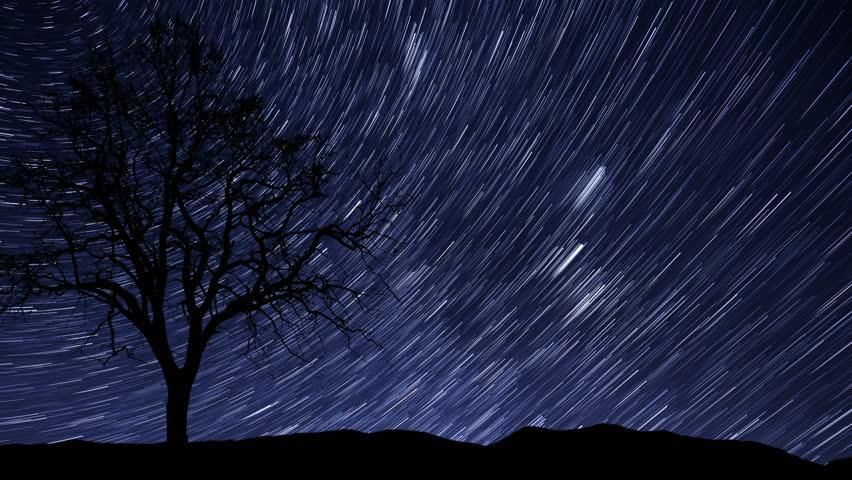 Night sky star trail time lapse background 4k 4096x2304 - Starry sky 4k ...