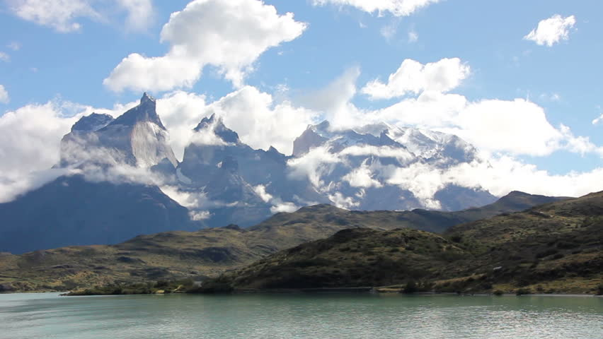 Cuernos del Paine mountains, Torres del Paine National park, Chile travel video