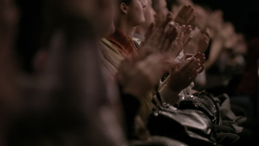 People in the theatre or in cinema auditorium applauding the perfomers | Shutterstock HD Video #5249153