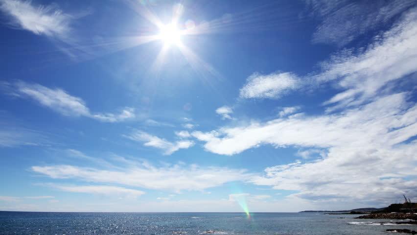 sun clouds and sea timelapse landscape 4k