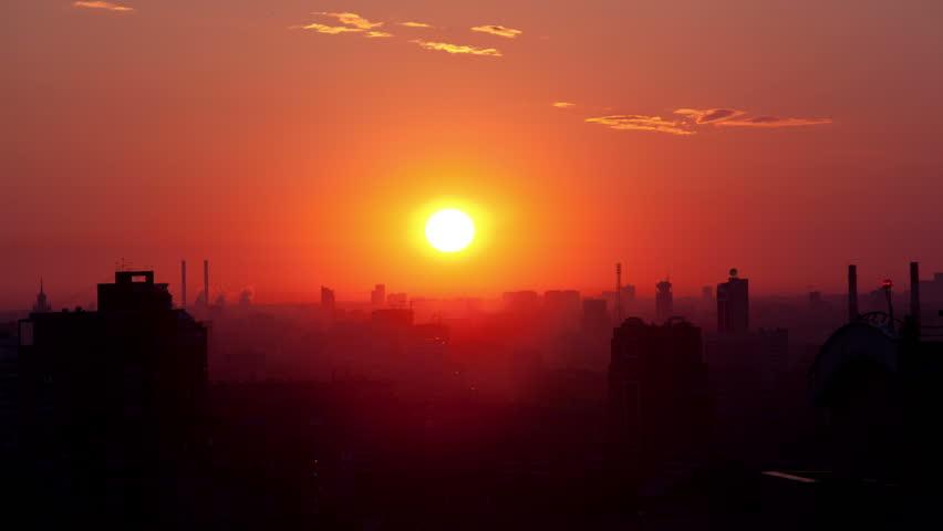 Sunrise City Footage Stock Clips
