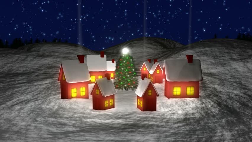 Santa Leaving Village HD1080