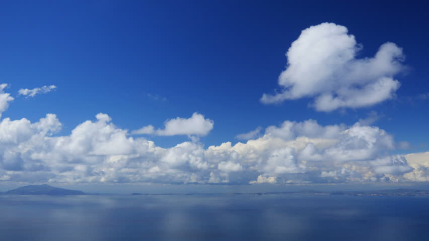 Capri seascape, Italy, time-lapse.