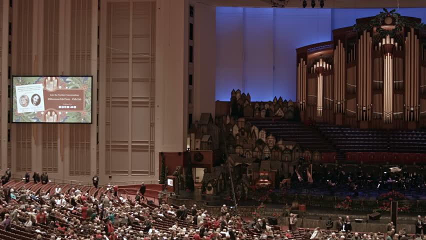 Lds Christmas Concert.Salt Lake City Utah Dec Stock Footage Video 100 Royalty