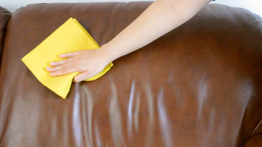 Brown Sofa Cleaning   HD Stock Video Clip