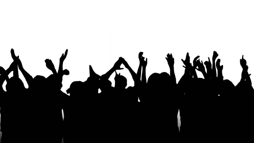 Crowd silhouettes, clapping and cheering. Pan. More options in my portfolio. #5317553
