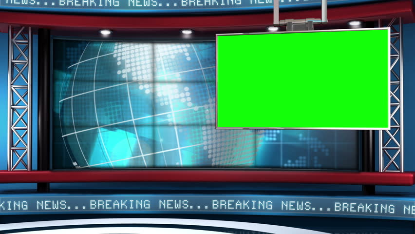 Stock Video Of Virtual Set Background This News Is