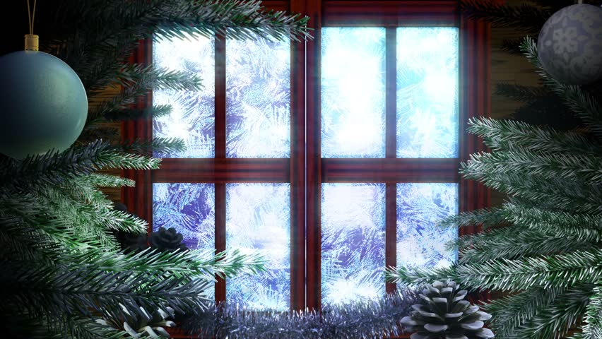Christmas Window.Animated Holiday Christmas Window With Stock Footage Video 100 Royalty Free 5333273 Shutterstock