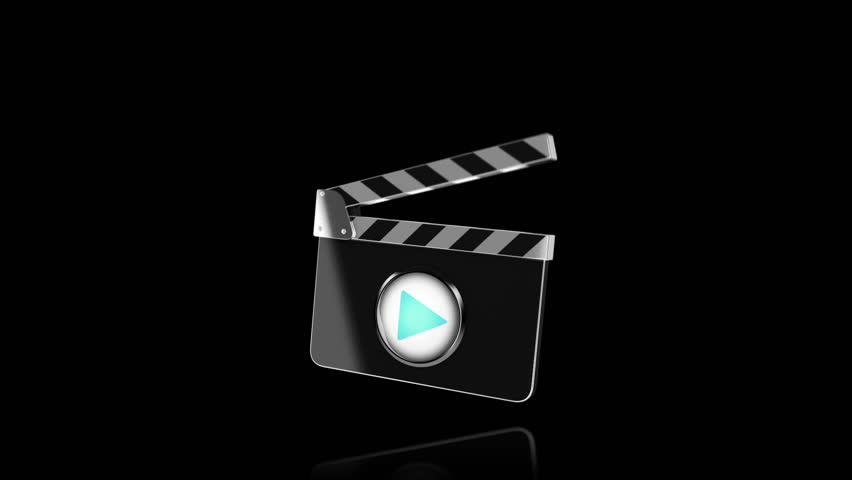 A motion picture clapboard (slate) intro. With chroma key and alpha matte.