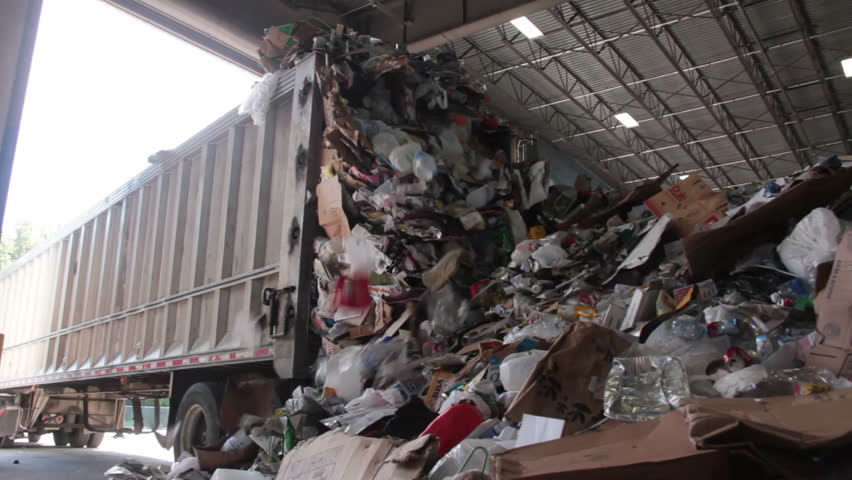 Recyclables are delivered to the recycling center | Shutterstock HD Video #5362097