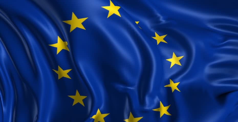 european union flag stock footage video shutterstock