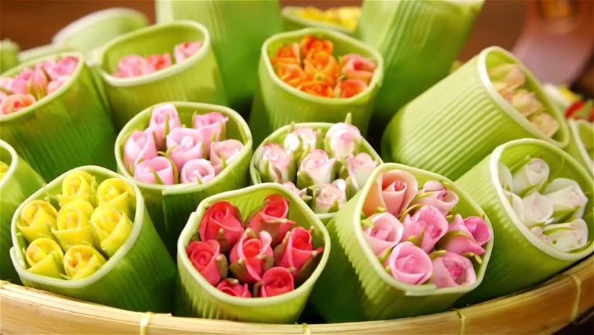 Mock up rose flowers  | Shutterstock HD Video #5377904