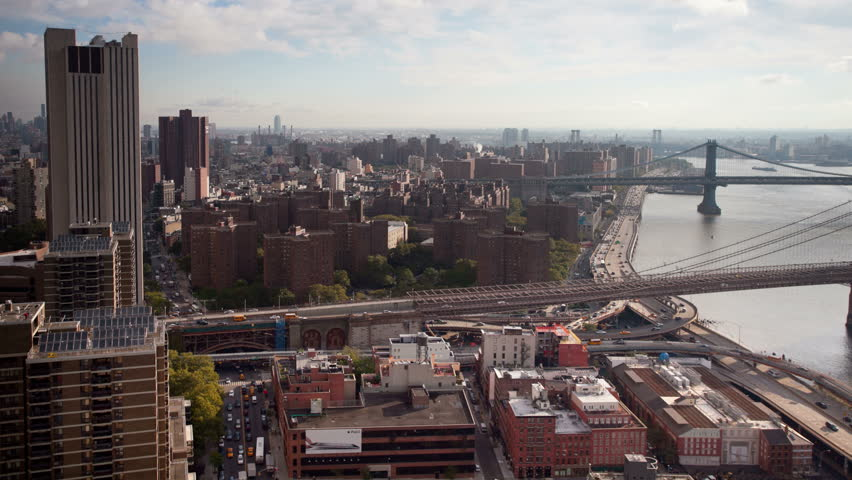 Manhattan skyline and brooklyn bridge time-lapse, super high quality, 4k resolution (4096x2304). | Shutterstock HD Video #5383223
