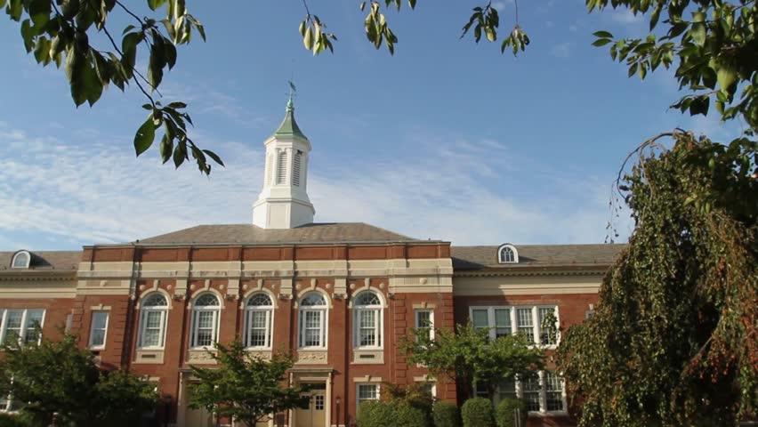 Exterior of brick school (1 of 5) | Shutterstock HD Video #5396693