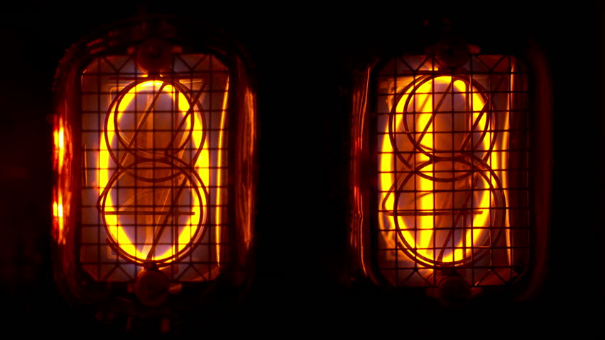 a numerical counter and number sequence filmed with an old nixie tube clock. this is a super high quality 4k version at 4096x2304 pixels