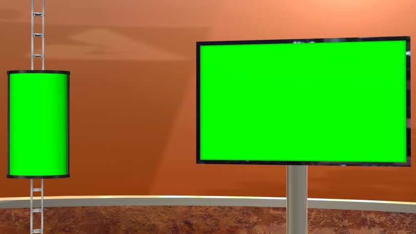 Virtual Studio with greenscreen - Videobackground  | Shutterstock HD Video #5427701
