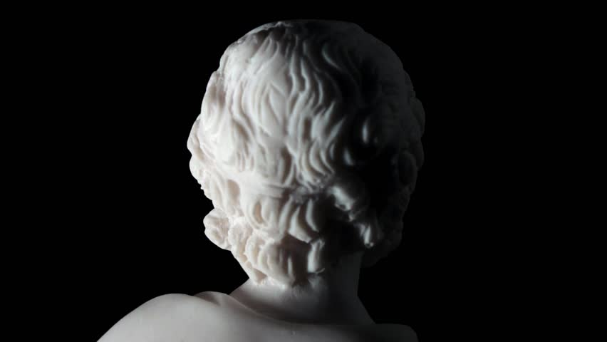 """Homer is the author of the poems, Iliad and Odyssey known as """"Homeric Epics"""".  White marble bust of the greek poet."""