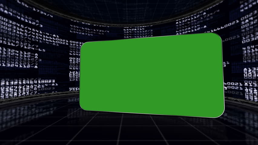 Green Screen Monitor in Numbers Room, with Alpha Channel   Shutterstock HD Video #5434013