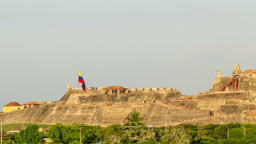 Time lapse video of San Felipe de Barajas castle in Cartagena, Colombia
