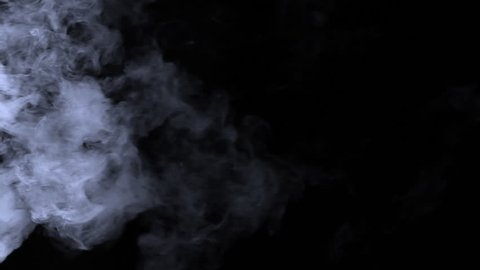 Steam or Smoke VFX element on pure black background.