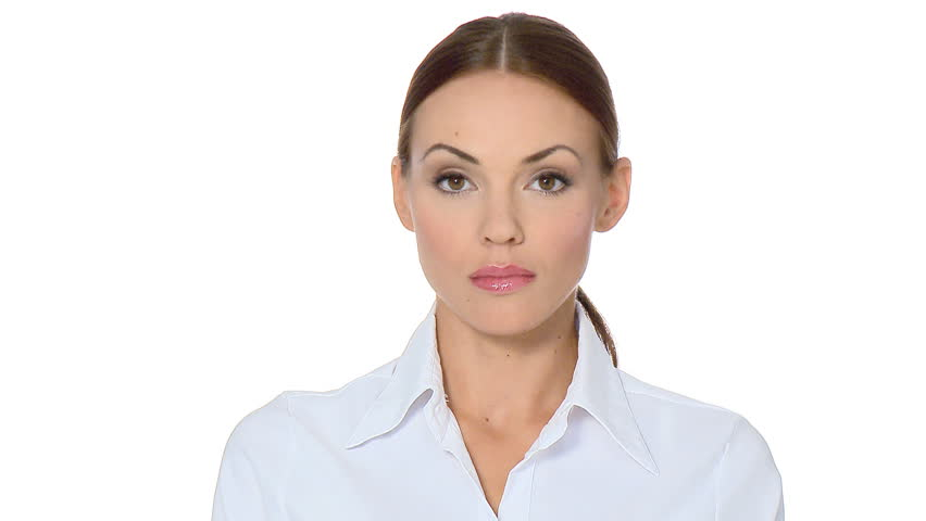 Beautiful young businesswoman showing thumb down  | Shutterstock HD Video #548533