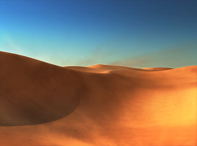 3d Animated Desert With Dunes And Sand Stock Footage Video
