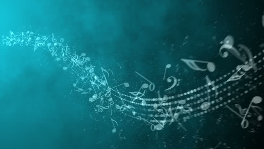 Music Notes Backgrounds: Song Background Stock Footage Video