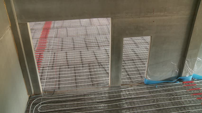 Video footage of a a construction site of a heated floor | Shutterstock HD Video #5511383
