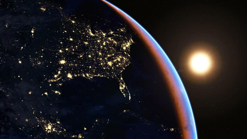 footprint north america nasa night light - photo #29