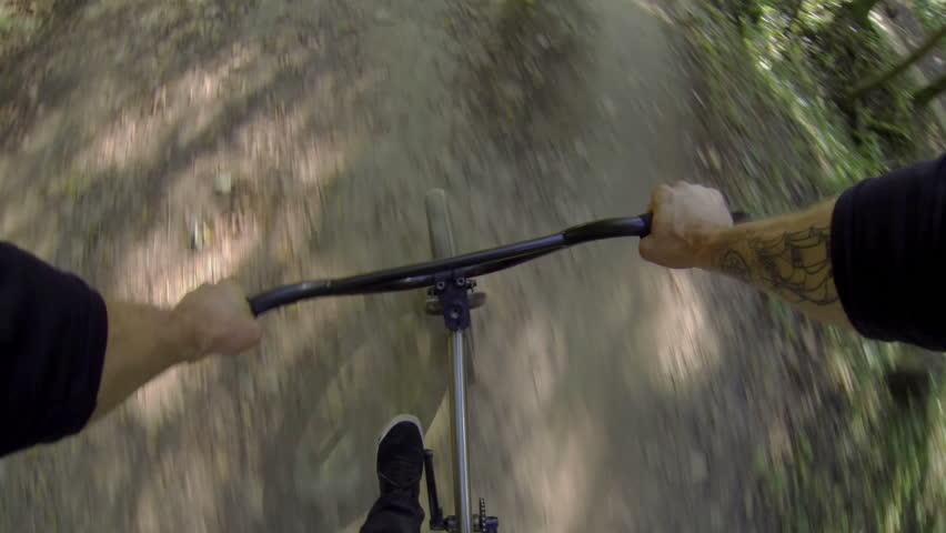 FIRST PERSON VIEW: Riding bmx  | Shutterstock HD Video #5531321