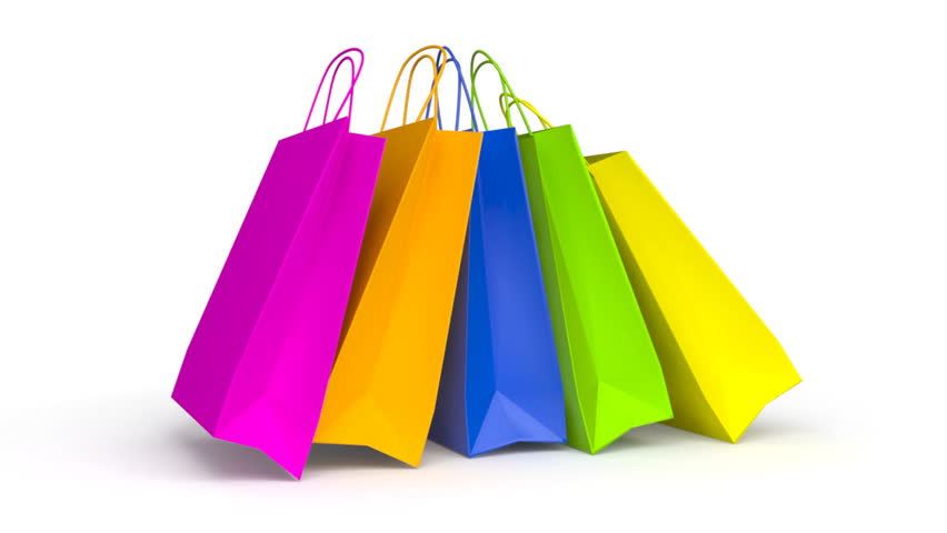 colored paper shopping bags animation stockvideos filmmaterial