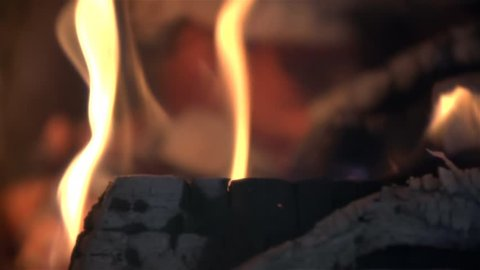 Burning Fire in Slow Motion