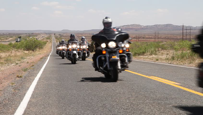 Route 66, motorcycle trip. On the road.