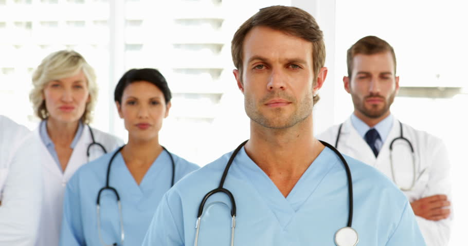 Group Of Smiling Doctors At The Hospital Stock Footage Video ...