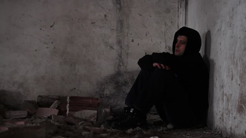 Depressed young man in abandoned building unemployment - Sad man hd wallpaper ...