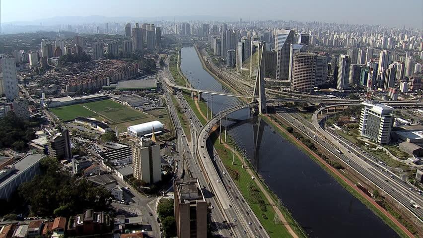 Sao Paulo downtown. Brazil. South America aerial view