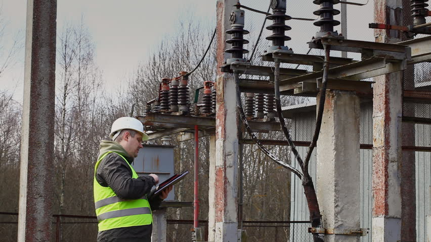Electrician Near To High Voltage Cable Episode 1 Stock Footage Video  5716703 | Shutterstock