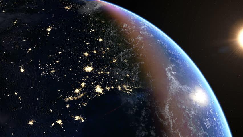 night light footprint north america nasa - photo #14