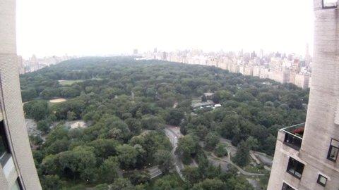 Central Park South- elevated view timelapse- Evening with Fireworks GOPR6763 GOPR6764 GOPR675