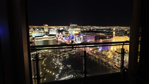 Forward Sliding Time Lapse from Las Vegas High Rise Balcony