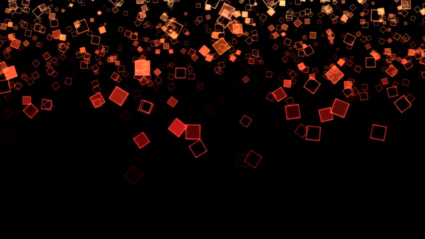 Abstract Falling Squares Background Animation - Loop Orange
