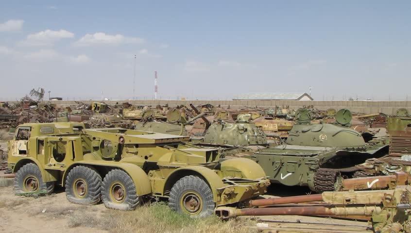 Stock Video Of Junkyard In Afghanistan Of Soviet Military