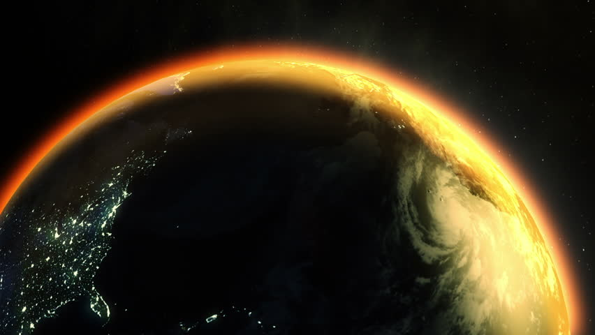 Animation of planet venus in outer space with beautiful nebulae earths global warming 60fps hd stock video clip voltagebd Choice Image