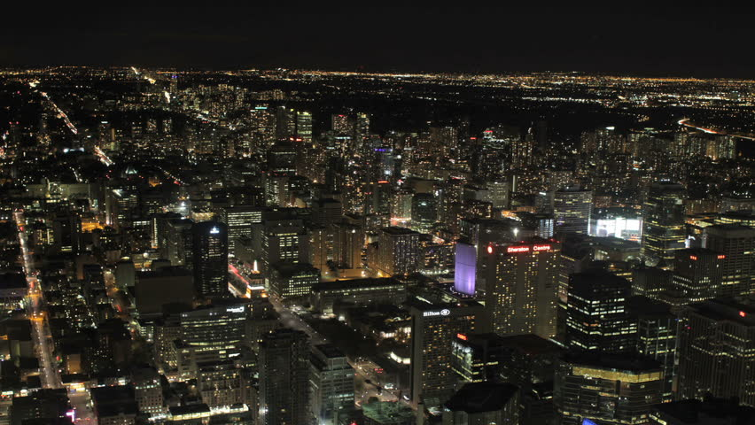 TORONTO - Time Lapse Of The Toronto Cityscape At Night In Canada, 2010