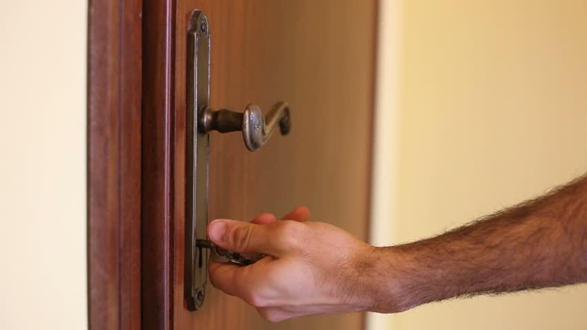 Man Open The Door   HD Stock Video Clip