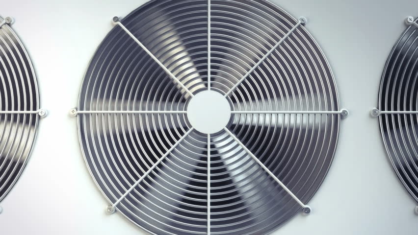 Air Conditioning Fan Ventilation Animation Temple With