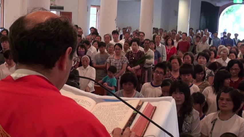 Mass in a Catholic Church. Taiwan   Shutterstock HD Video #5844563