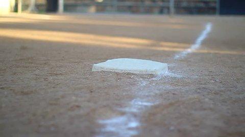 Baseball base dolly shot
